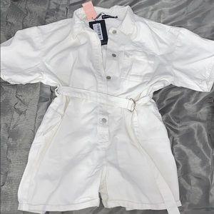 White denim shorts playsuit!